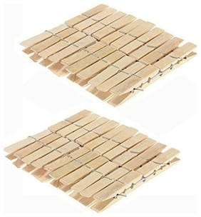 New Multipurpose Wooden Clips,Bamboo Cloth PEG Set of 40 pcs
