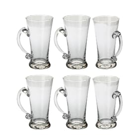 New Pilsner Glass Beer Mug With Handle Set Of 6