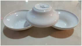 NEW  Set 3 IKEA SALAD SOUP  CERAMIC  BOWL   WHITE 6.75''