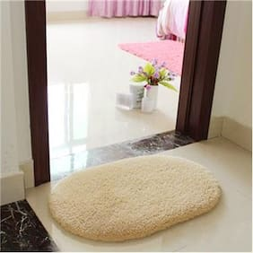 New Slip-Resistant Pad Room Oval Carpet Floor mats 40*60CM Khaki
