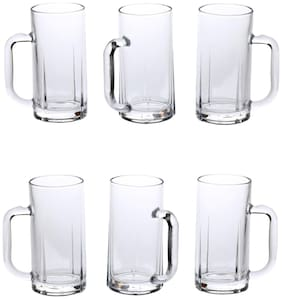 New Style Somil Glass Mulipurpose Beer Mug With Handle Set Of 6