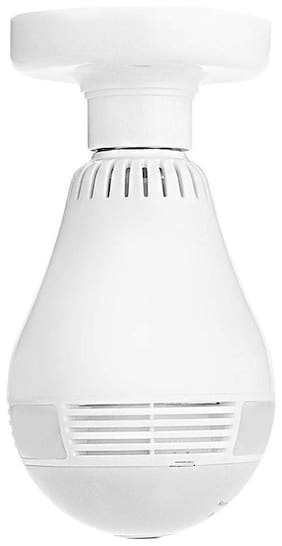Newbigfashion Wireless Panoramic Bulb 360 Degree  IP Camera;960P Fisheye Vision;Remoting Monitoring Home Security Camera LED Bulb Light;with Hidden Camera;Two-Way Audio and Support Micro 128GB SD Card
