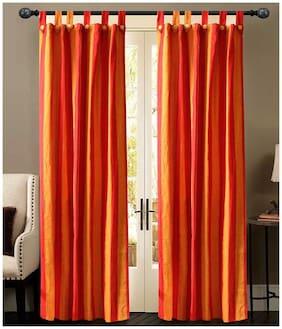 NewLadiesZone Set Of 2 pc red flower Door Curtain