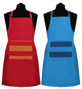 NewLadiesZone Apron set of 2 pcs 100% cotton