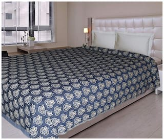 NewLadiesZone Cotton Grey Ac Blanket