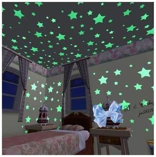 Altima Creations Night Glowing Radium Magic Stars Stickers for Kids Rooms (118 Nos)