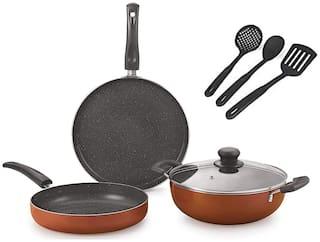Nirlon Cookware Combos ( PTFE , Non-Stick , Set of 7 )