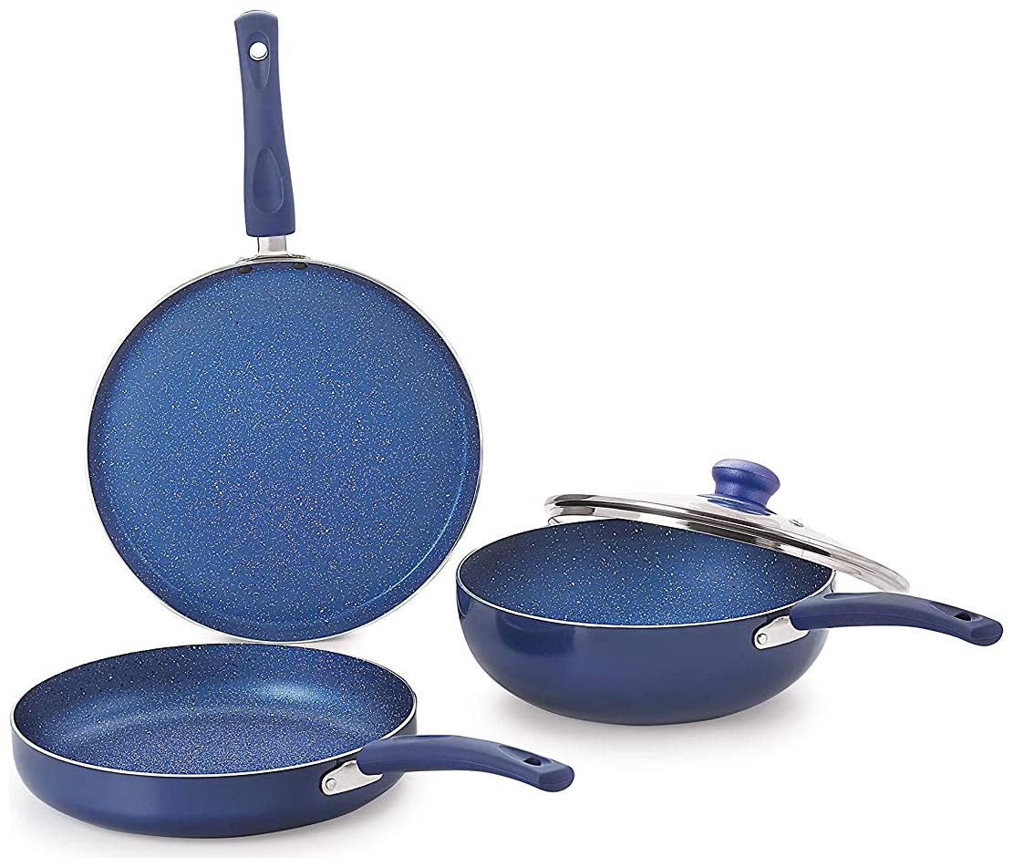 Nirlon Induction Non Stick Bling Cookware Cooking Gift Sets  Set of 4
