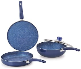 Nirlon Induction Non-Stick Bling Cookware Cooking Gift Sets (Set of 4)