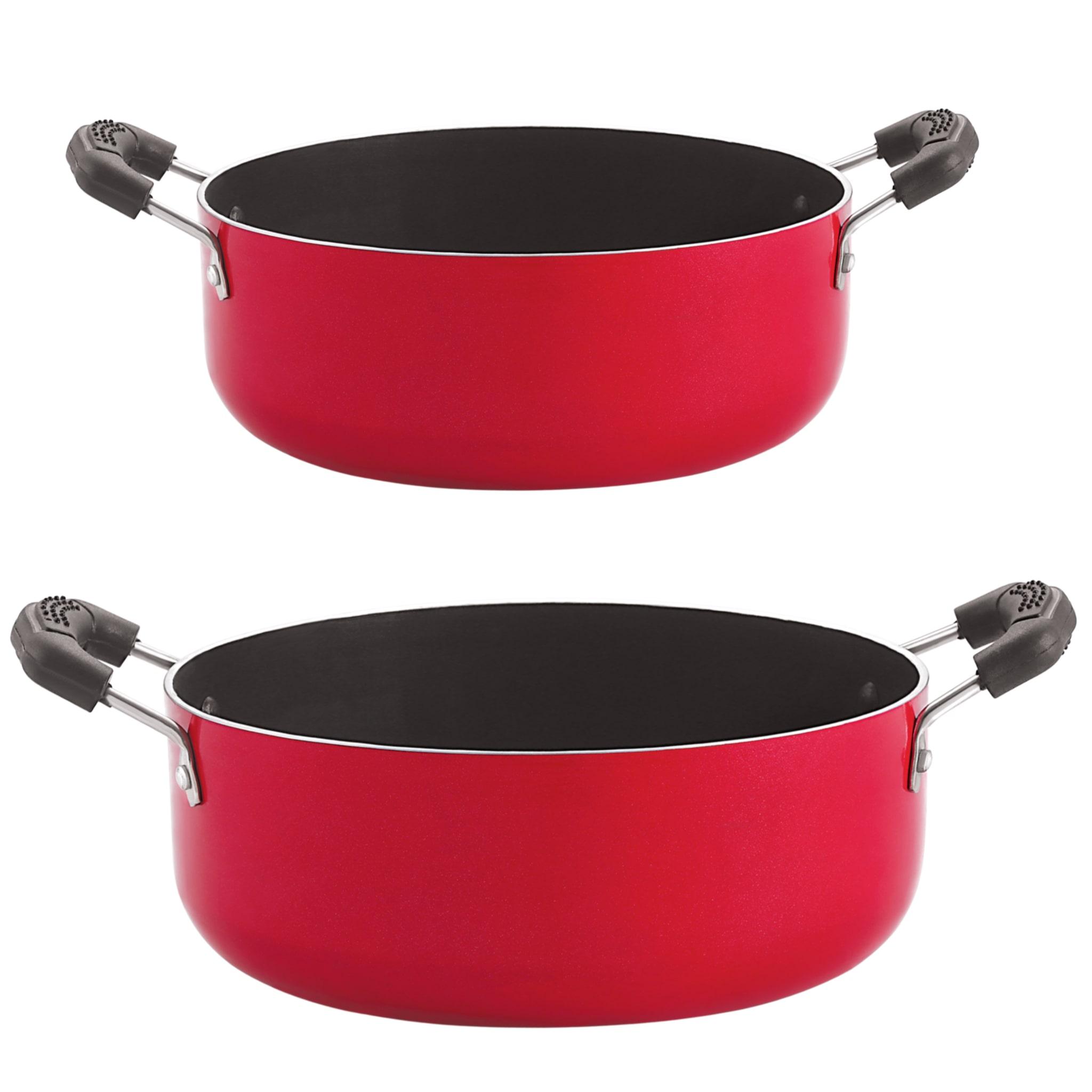 Nirlon Non Stick Gas Compatible Casserole 2 Piece Cookware Set