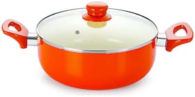 Nirlon Non Stick Induction Based Ceramic Casserole With Glass Lid;3.1 liter (1 Piece)
