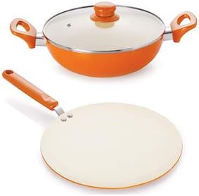 Nirlon Non-Stick Ceramic Cookware Set (Set of 3)