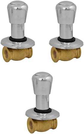NJT Consealed Society (Code - 11239) Faucet Silver Plated Tap for Bath & Kitchen Pack of 3