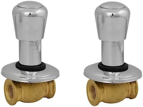 NJT Consealed Society (Code - 11238) Faucet Silver Plated Tap for Bath & Kitchen Pack of 2
