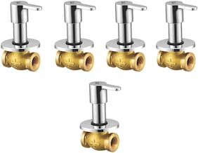 NJT Consealed Fussion (Code - 11517) Silver Chrome Plated Tap for Bath And Kitchen - Pack of 5