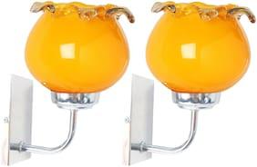 Nogaiya Glass Modern Yellow Wall lamps ( Set of 2 )