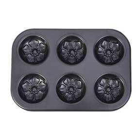 Non Stick Coated Bakeware Muffin Tray 6 Cup