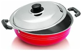Non Stick Deep kadhai with SS Lid, 2 L capacity
