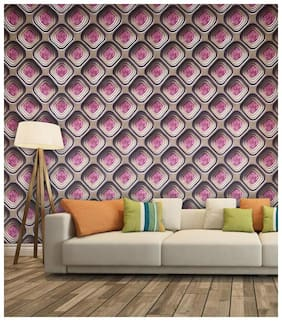 Non Woven 3D Decorative Wallpaper with Geometrical pattern