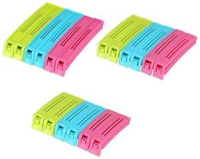 Normal 3 size Plastic Food pouch clip  (Set of 18, Multicolor)