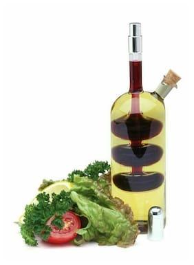 Norpro Oil Vinegar Cruet With Spritzer Hand-blown Glass Bottle & Sprayer