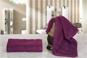 Nova Home - Cozy 100 % Cotton 280 GSM Set of 2 Hand Towels (38 X 58) - Plum Purple