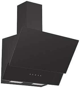 Kaff 46 cm 1000 m3/h Stainless steel Chimney - 210 watts , Black , NOVATC 60 WITH (FREE INSTALLATION KIT INSIDE THE BOX)