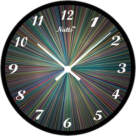 Nutts Plastic Analog Wall clock ( Set of 1 )