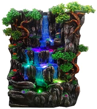NVR Water fountain mountain fall Multicolor -Set of 1