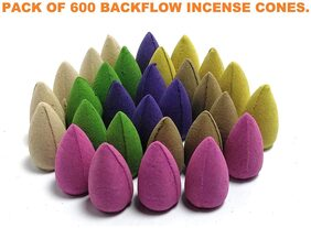 Nyrwana Backflow Smoke Fragrant Cones Mix Incense (Multicolour) Pack of 30