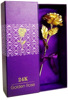 Oanik 24K Gold Foil Artificial Rose Flower Birthday Gift Valentine s Day Gift Anniversary Gift