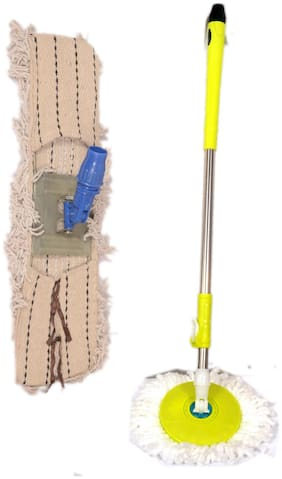 Oanik Home Green Mop with extra defferent refill