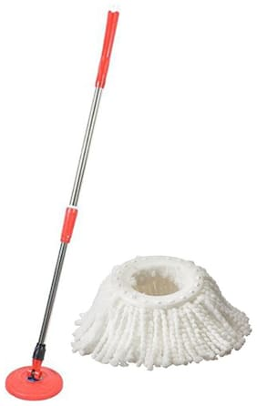 Oanik Spin Mop Handle with Refill, White