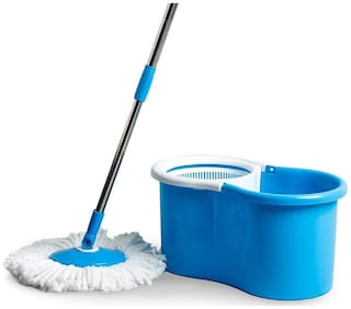 Oanik Spin Mop With Spinner And Bucket For Magic 360 Degree Cleaning With Refill