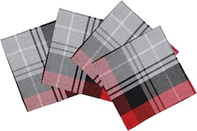 Oasis Hometex  Collection Premium Quality Cotton Yarn Dyed Napkins - ( Pack of 4)