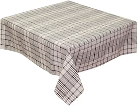 Oasis Home Cotton YD Table Cloth-Brown Mini Check-2 Seater
