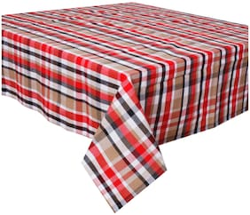 Oasis Home Cotton Yarn Dyed Table Cloth -2 Seater - Multi Check