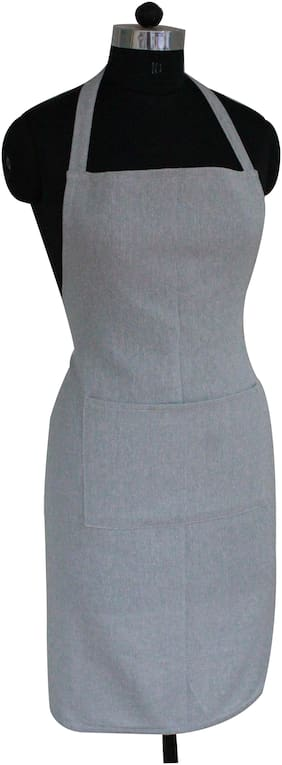 Oasis Hometex Cotton Apron Grey ( Pack of 1 )