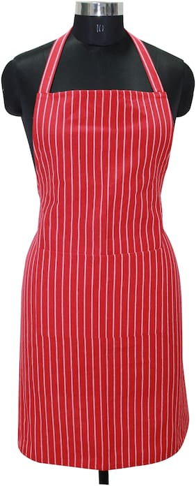 Oasis Hometex Cotton Apron Red ( Pack of 1 )