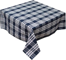 Oasis Home Cotton YD Table Cloth - Blue - 4 Seater