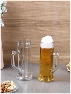 Oberglas Premium Ribbed Beer Mug 330 ML Set of 2pcs