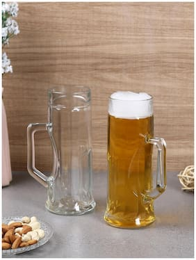 Oberglas Premium Ribbed Beer mug 550ml Set of 2pcs