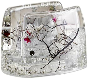 Obsessions Transparent Agua Glass Napkin Holder