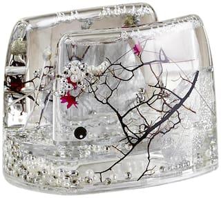 Obsessions Transparent Agua Glass Napkin Holder