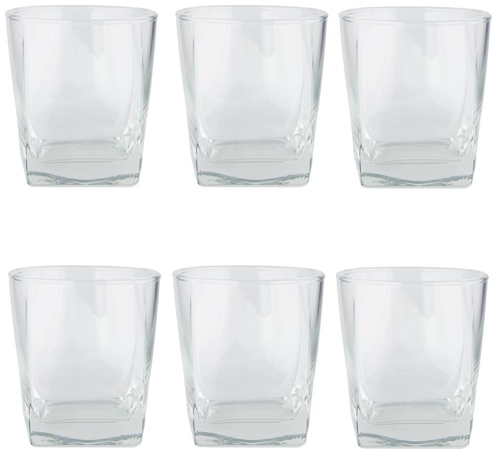Ocean Plaza Glass Set,195ml,Set of 6,Transparent  1B11007