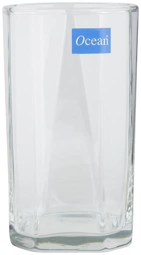 Ocean Pyramid Hi Ball Glass,Transparent,300ml,Set of 6