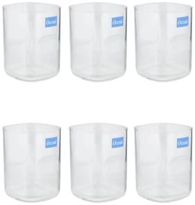 Ocean Unity Glass Set,255ml,Set of 6,Transparent