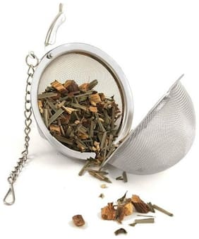 Octavius Ball Shaped Tea Infuser - Stainless Steel Food Grade Mesh - Perfect for Brewing Loose Leaf Teas