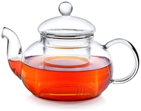 Octavius Borosilicate Glass Teapot/Kettle with Heat Resistant Removable Glass Infuser and Lid - 800ML
