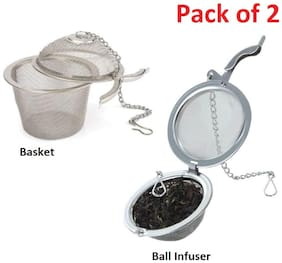 Octavius Stainless Steel Infuser Combo (Ball Shaped + Basket Shaped)